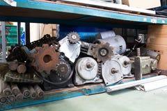 Ausrüstungsindustrie Motor, Gang, Welle, Kette Stockfoto