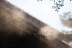 Ausr?stung, der Vater hinunter den Wasserabscheiderstaub PM2 5 stockfoto