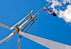 Ausralian Markierungsfahne am Parlaments-Haus Lizenzfreie Stockfotos