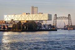 Ausrichthebel, der Rotterdam errichtet lizenzfreies stockbild
