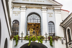 Free Ausros Gate (gate Of Dawn) With Basilica Of Madonna Ostrobramska Royalty Free Stock Photography - 59265757