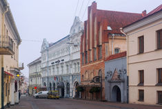 Ausros vartaigata, Vilnius, Litauen Royaltyfri Fotografi