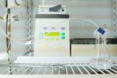 Ausrüstung des Chemikalie-biologischen Labors Stockbild