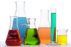 Ausrüstung im Wissenschafts-Forschungs-Labor Stockbild