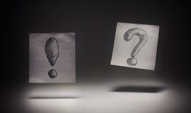 Ausruf und Frage Stockbild