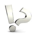 Ausruf und Fragezeichen stock abbildung