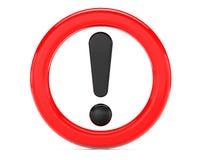 Ausruf unterzeichnen herein roten Ring stock abbildung