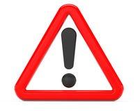 Ausruf unterzeichnen herein rotes dreieckiges lizenzfreie abbildung