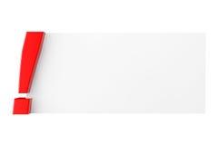 Ausrufezeichen mit leerem Papier Lizenzfreie Stockfotografie