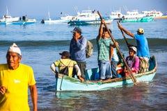 Ausschiffen des Strandes stockfoto