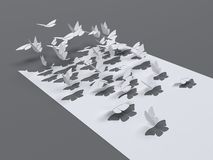 Ausschnitt Butterfles-Fliegen stock abbildung