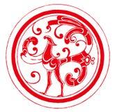Ausschnitt des chinesischen Papiers - Phoenix Stockbild