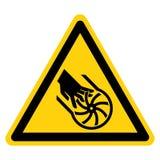 Ausschnitt des Finger-Antreiber-Blatt-Symbol-Zeichens, Vektor-Illustration, Isolat auf wei?em Hintergrund-Aufkleber EPS10 lizenzfreie abbildung