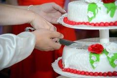 Ausschnitt des Kuchens Lizenzfreies Stockbild