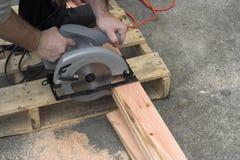 Ausschnitt-Holz Stockfotos