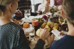 Ausschnitt-Kürbiskuchen-Nachtisch-Erntedankfest-Konzept lizenzfreies stockfoto