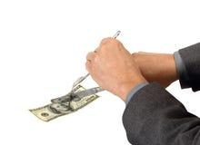 Ausschnitt-Kosten mit Diversifikation stockfotografie