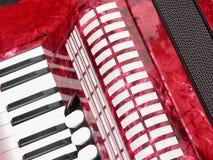 Ausschnitt mit Akkordeon Lizenzfreies Stockbild