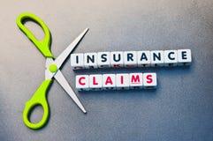 AusschnittAnspruch auf Versicherungsleistungen Lizenzfreie Stockfotografie