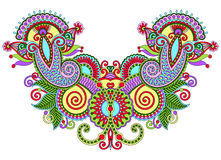 Ausschnittaufwändige Blumen-Paisley-Stickereimode Stockfotos
