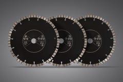 Ausschnittdisketten mit Diamanten - Diamantdisketten für konkretes Isolat Lizenzfreie Stockfotos