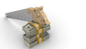 Ausschnittfinanzierung lizenzfreie abbildung