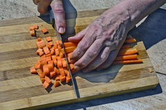 Ausschnittkarotten mit Messer Stockfotografie