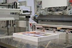 Ausschnittmaschine in einem Druck s Stockfoto