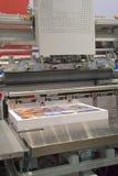 Ausschnittmaschine in einem Druck s lizenzfreies stockfoto