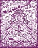 Ausschnittschattenbild der frohen Weihnachten Lizenzfreies Stockbild