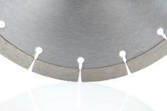 Ausschnittscheiben mit Diamanten - Diamantdisketten für den Beton lokalisiert auf dem weißen Hintergrund Lizenzfreies Stockbild