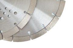Ausschnittscheiben mit Diamanten - Diamantdisketten für den Beton lokalisiert auf dem weißen Hintergrund Stockbild