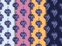 Ausschnittspfad eingeschlossen Set nahtlose Muster Das Muster für wallp Lizenzfreies Stockfoto