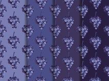 Ausschnittspfad eingeschlossen Set nahtlose Muster Tapeten mit Traube Vektor Abbildung