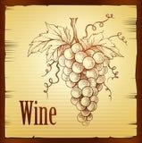 Ausschnittspfad eingeschlossen Weinaufkleber Stockfoto