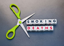 Ausschnitttodesfälle vom Rauchen Lizenzfreie Stockfotos