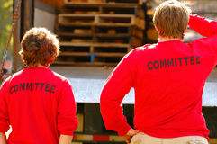Ausschussmitgliedas in der Tätigkeit Lizenzfreie Stockfotos