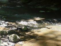 Aussehung wie eine Untertasse teils unter Wasser stockbild