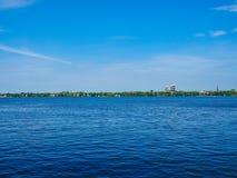 Aussenalster (lago esterno Alster) nel hdr di Amburgo Immagini Stock Libere da Diritti