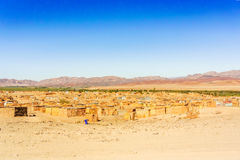 Aussenkehr man made shacks on the bank of Orange river. Royalty Free Stock Photo