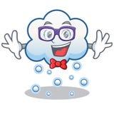 Aussenseiterschneewolken-Charakterkarikatur Lizenzfreies Stockbild