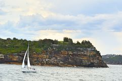 Aussi Coast. Sailing off the coast of Sydney Royalty Free Stock Image