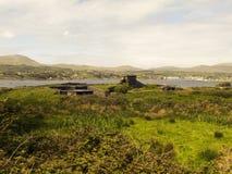 Aussicht-Beitrag auf Beara-Insel stockbilder