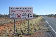 Aussichtloses Verkehrsschild zur Kiefer Gap lizenzfreie stockfotografie