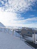 Aussichtsplattform auf dem Gletscher Stockbild