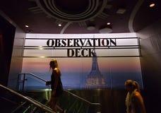 Aussichtsplattform-Zeichen innerhalb des Empire State Building Lizenzfreie Stockbilder