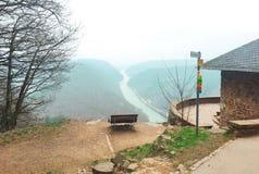 Aussichtspunkt Cloef, Mettlach, Alemanha fotografia de stock