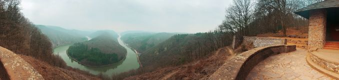 Aussichtspunkt Cloef, Mettlach, Duitsland Royalty-vrije Stock Fotografie