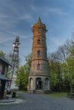 Aussichtsturm auf Jedlova-Hügel stockfotos