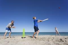 Aussie Beach Batsman stock afbeeldingen
